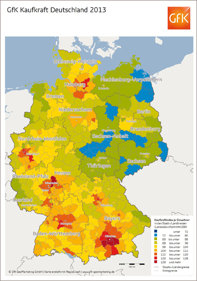 statistik kaufkraft deutschland 2013 deutsche haben 554 euro mehr wiwi treff zeitung. Black Bedroom Furniture Sets. Home Design Ideas