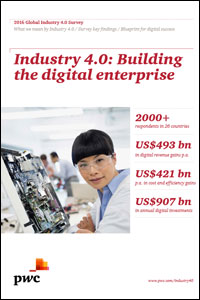 PwC-Studie 2016: Industrie 4.0 - Building the digital enterprise