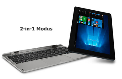 Aldi Full-HD Tablet-Notebook Medion E1240T im 2-in-1-Modus