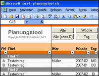 Freeware/Planungstool/Excel