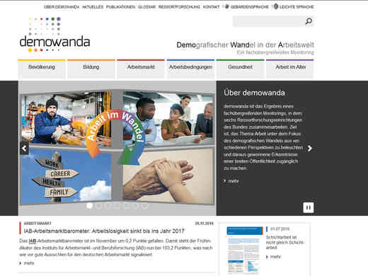 Screenshot Homepage demowanda.de