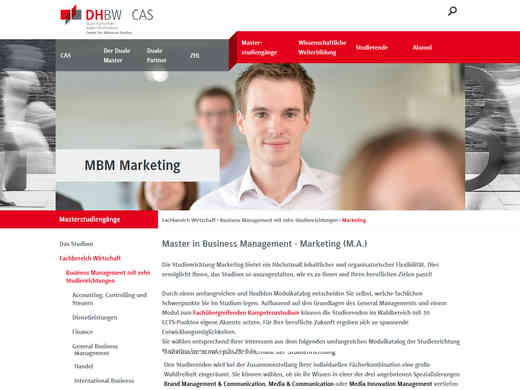 DHBW Master in Business Management - Marketing (M.A.)