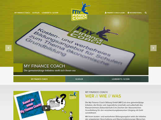 Screenshot der Website finance-coach.de
