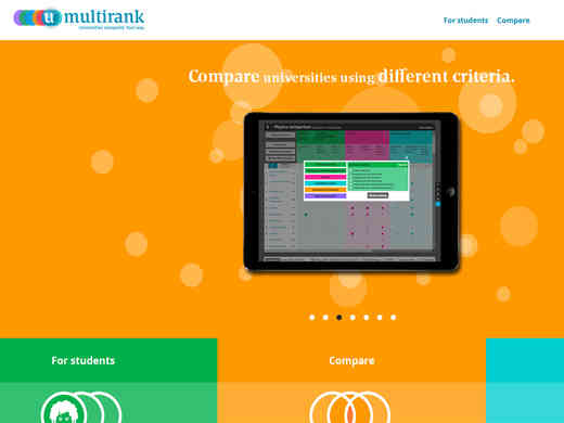 Screenshot Homepage umultirank.org