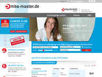 Screenshot Homepage mba-master.de