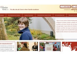 Screenshot Homepage Arbeiterkind.de