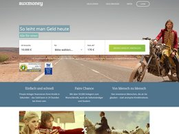 Screenshot der Website auxmoney