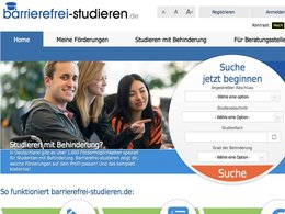 Screenshot barrierefrei-studieren.de