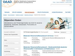 Screenshot Homepage daad.de