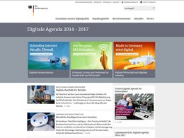 Screenshot der Webseite www.digitale-agenda.de