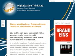 Screenshot der Webseite www.digitalizationthinklab.com