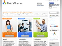 Screenshot Homepage duales-studium.de
