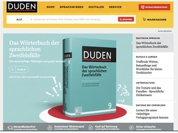 Screenshot Homepage duden.de
