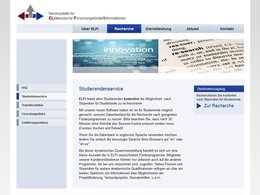 Screenshot Homepage elfi.info