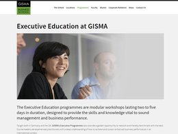 Screenshot der Gisma Business School zum Executive MBA.