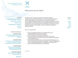 Screenshot Homepage fibaa.org
