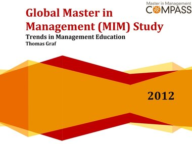 Cover Global Master in Management (MIM) Study 2012