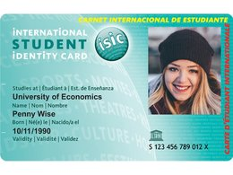 "Der internationale Studentenausweis ""International Student Identity Card - ISIC""."