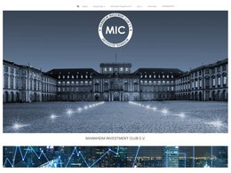 Screenshot der Homepage von der Studierendeninitiative Mannheim Investment Club e.V.
