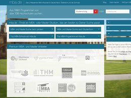 Screenshot Homepage mba.de