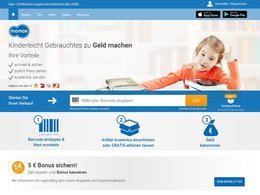 Screenshot Homepage momox.de