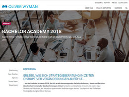 "Consulting-Workshop ""Bachelor Academy 2018"" der Strategieberatung Oliver Wyman."
