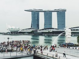 Marina Bay Sands ist ein Resort an der Marina Bay in Singapur.
