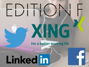 LinkedIn, Xing, Facebook, Twitter, Edition F