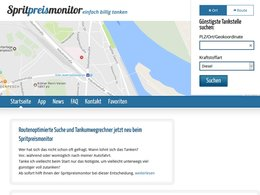 Screenshot Homepage spritpreismonitor.de