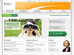 Screenshot Homepage stipendienlotse.de