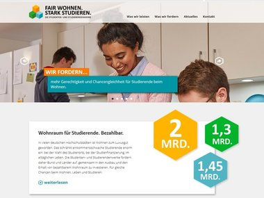 Screenshot der Website »mein-studentenwohnheim.de«