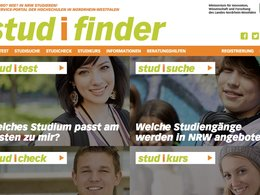 Screenshot Studifinder NRW