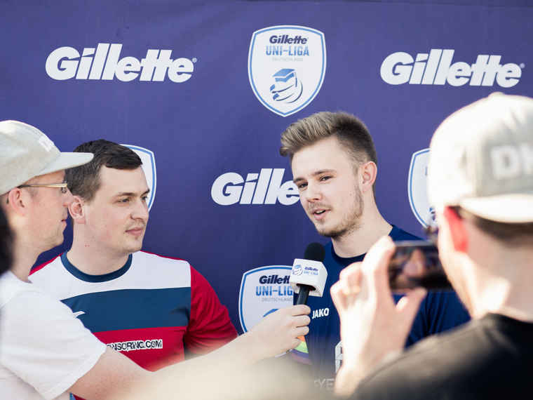 Gillette Uni-Liga Fußball 2018: Interview