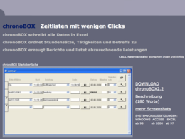 Screenshot chronobox.de